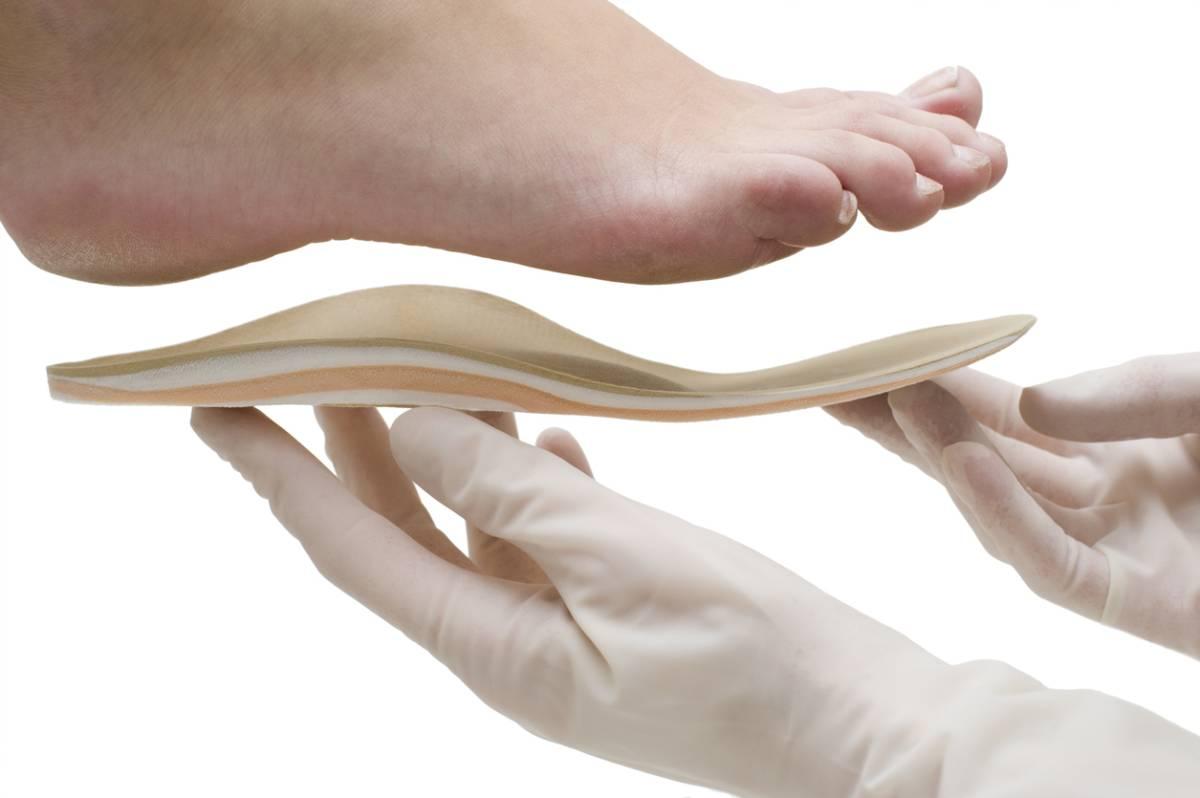 Orthopedic insoles isolated stock photo