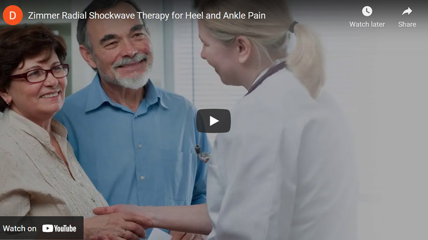 Image of Zimmer Radial Shockwave Therapy for Heel and Ankle Pain Click to See Video