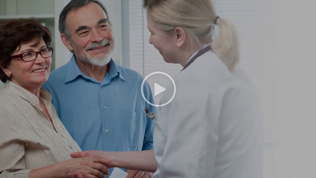 doctor consoling a patient at the hospital video thumbnail stock photo